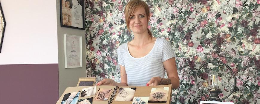 Miriam Müller hat Hold the line Tattoo in der ehemaligen Videothek eröffnet