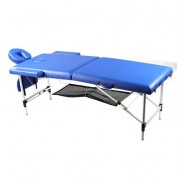 Body Coach faltbare Massagebank aus Aluminium mit Aufbewahrungsnetz