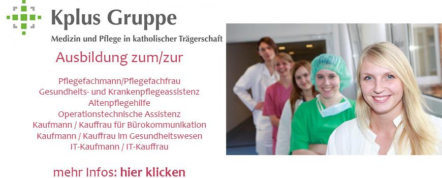 Ausbildungsboerse-Banner-Kplus-Gruppe-Gesundheitswesen