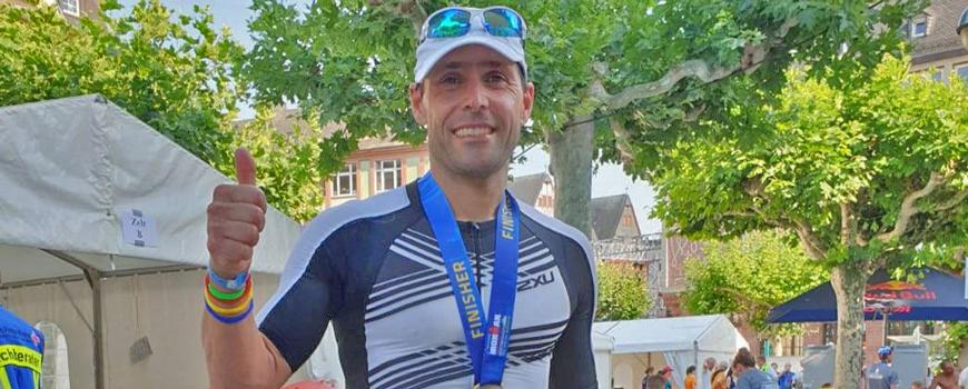 Hildener AT: Volker Siepe kämpfte beim Iron Man gegen Hitze an