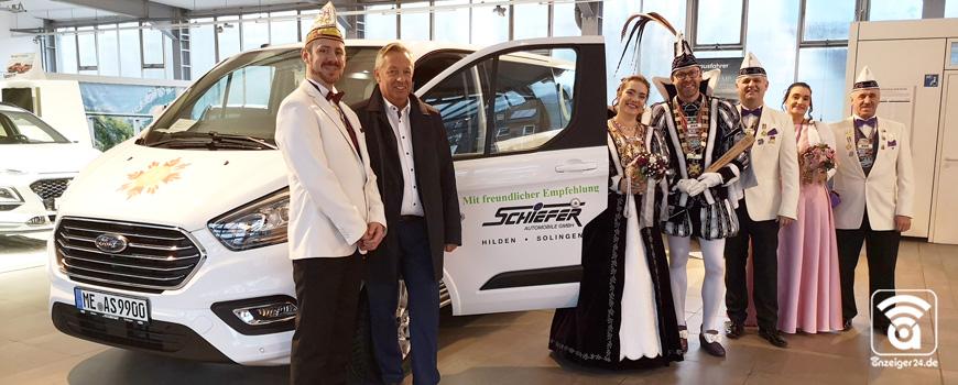 Autohaus Schiefer: Ein Ford Tourneo Custom für das Carnevals Comitee Hilden
