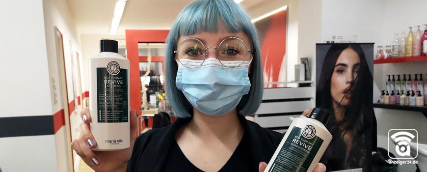 Coiffeur Team Taprogge in Hilden nutzt vegane Haarpflegeprodukte von maria nila