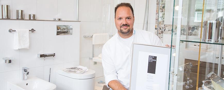 """Badgestaltung Hilden: Beck Haustechnik GmbH gehört zu den """"Besten Badstudios 2016"""""""